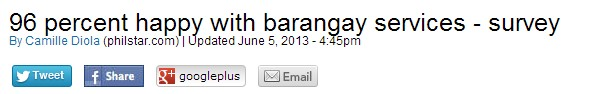 happy with barangay services