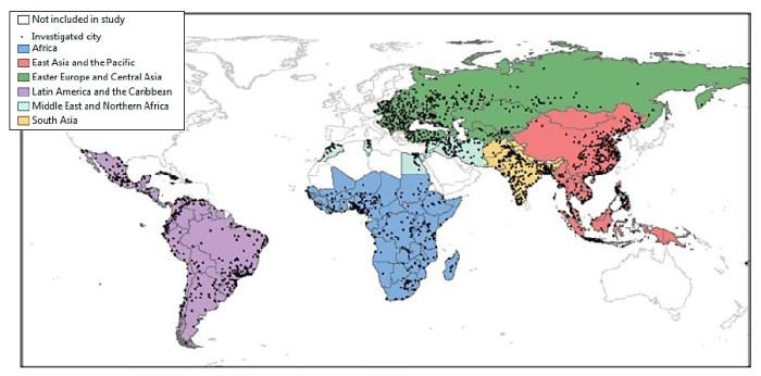 GURI study regions
