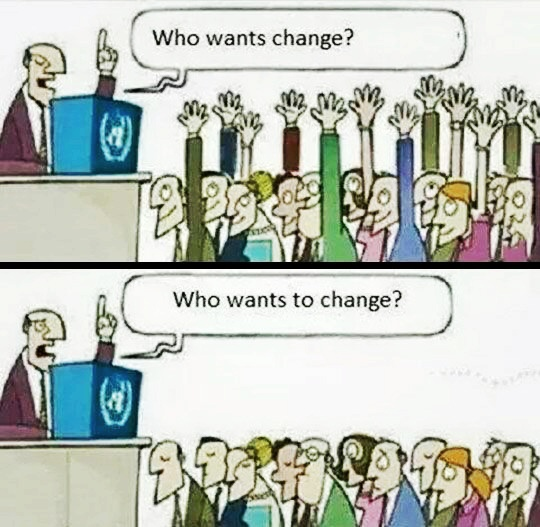 Change vs to change