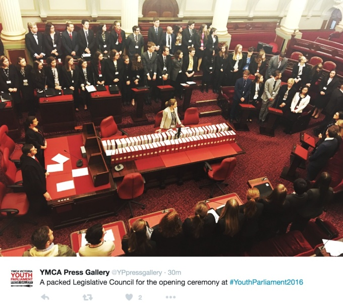Australia Youth Parliament in session