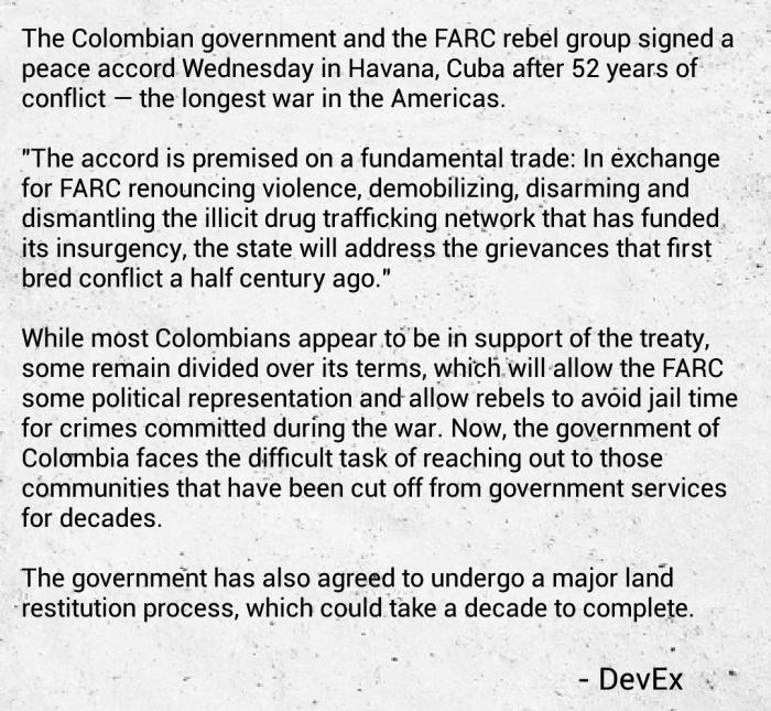 Peacebuilding Colombia Government FARC