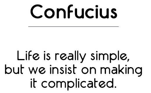confucius on simplicity