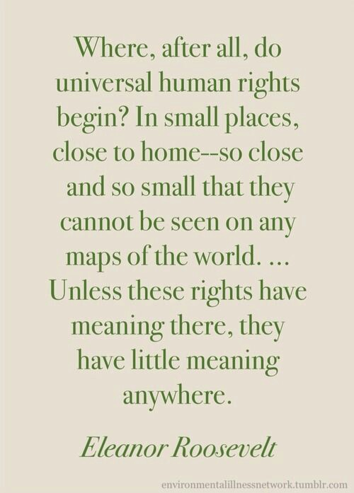 Eleanor roosevelt quote human rights