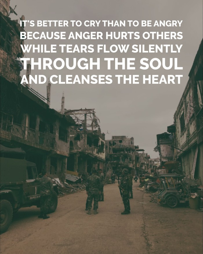 Better to cry than to be angry quote