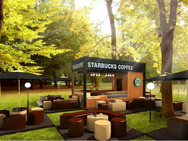 Booth design sample starbucks